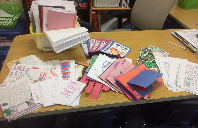 Simonton Elementary Simonton Elementary students send holiday letters to U.S. troops