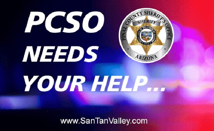 PCSO Needs Your Help Re: San Tan Valley Shooting