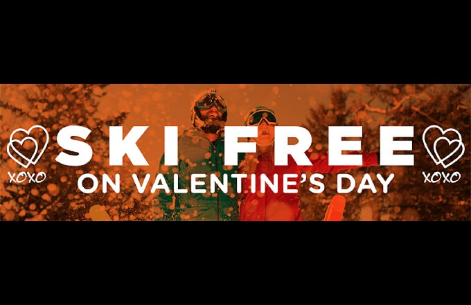 Ski for free on Valentine's Day